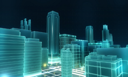 futuristic city, illustration